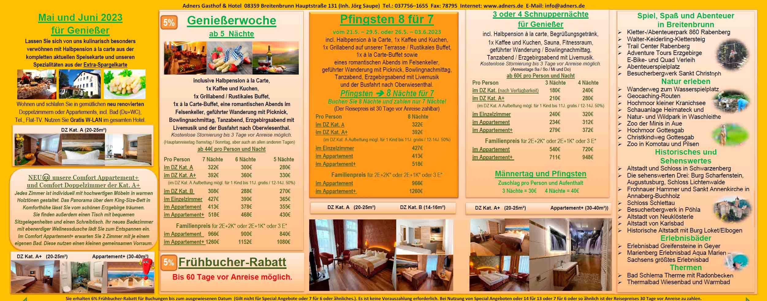 05_Adners_Gasthof_und_Hotel_Breitenbrunn_im_Erzgebirge_Lastminute_Angebot_Mai_und_Juni